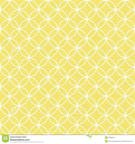 design house skyline yellow motif wallpaper retro white circles in rows on sunny yellow stock