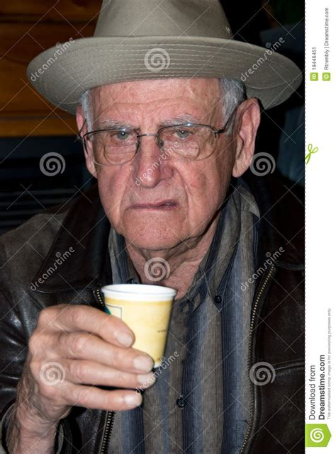 a frosty mug of murder the grumpy chicken pub series books grumpy senior before his morning coffee stock image