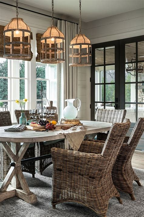 Coastal Farmhouse Style Dining Room Home Bunch Interior Farmhouse Dining Room Lighting
