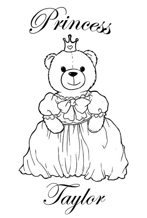 coloring pages name taylor princess coloring pages