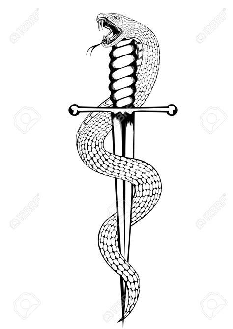 snake and dagger tattoo 44 snake and dagger tattoos ideas