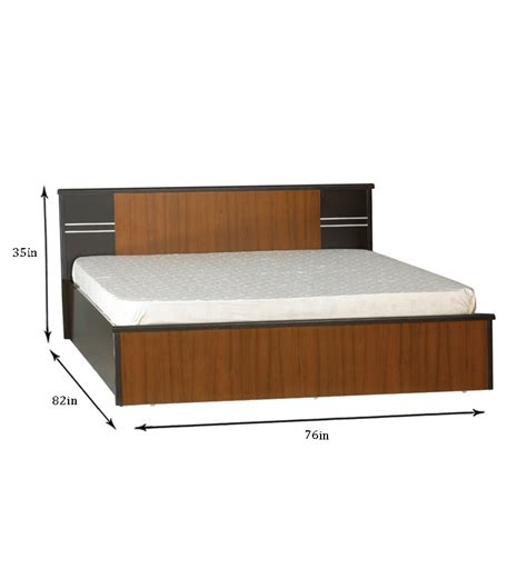 king size storage beds spacewood pluto king size bed with storage by spacewood