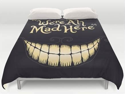 Bed Comforters With Quotes Cheshire Cat Smile Quote Comforter Cover