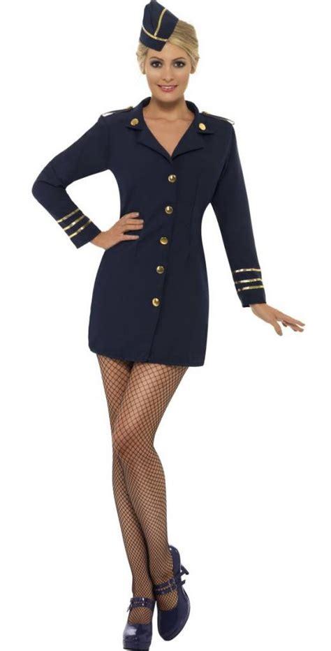 Flight Attendant Costume flight attendant or pilot fancy dress costume