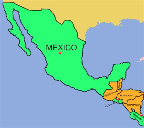 map of usa mexico and central america map of central america and mexico a map of mexico and