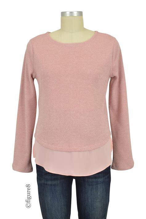 Rn Sweater Mismis Fit L side zipper nursing sweater in by maternity