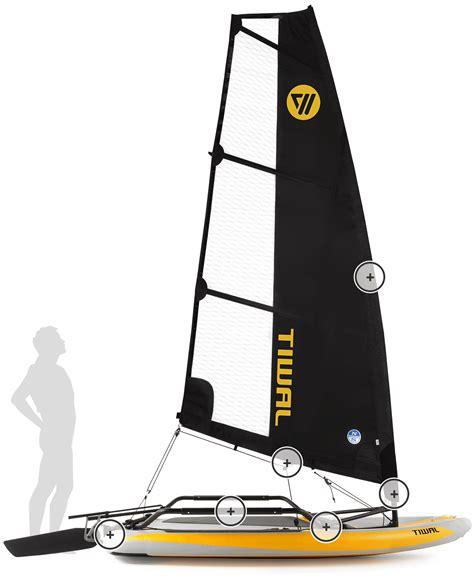 sailboat car tiwal 3 small sailboat a sailboat that fits in your car