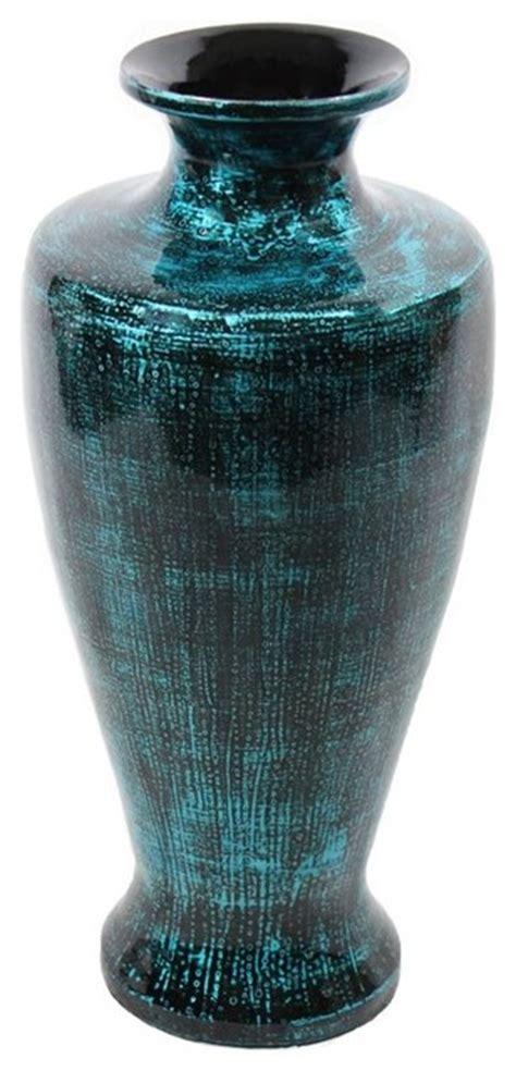 Teal Floor Vase by Teal Lacquer Bamboo Vase Sku En30490 Vases By