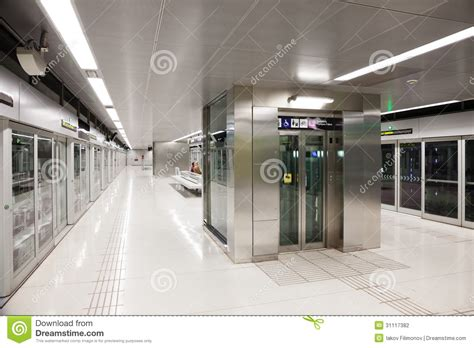 interior of metro station gorg editorial photography