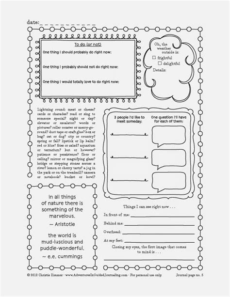 printable book journal pages adventures in guided journaling printable journal pages