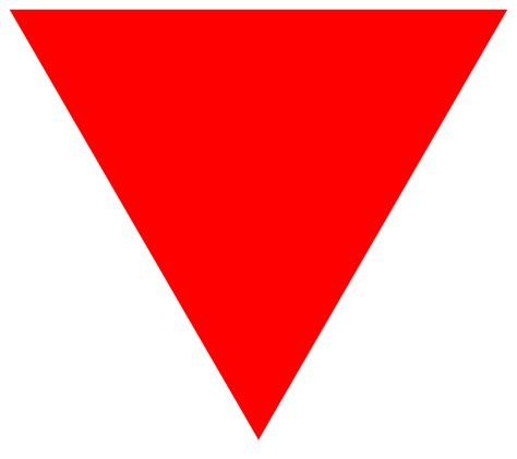 what shape is upstide down triangel file red triangle svg wikimedia commons