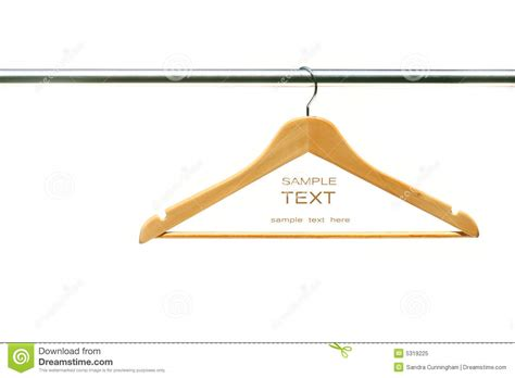photo hanger coat hanger on clothes a rail royalty free stock photo
