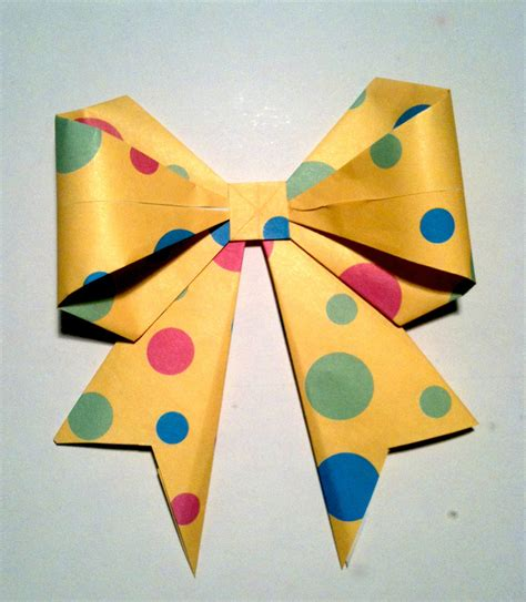 How To Make A Bow Origami - origami bow pdx pursuit