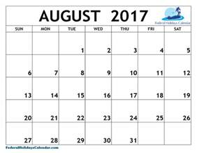 august 2017 calendar canada printable template with holidays