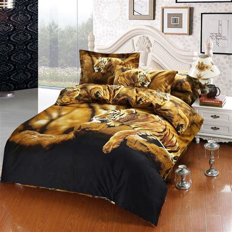 white tiger bed set 3d bedding sets king size bedsheets brand white tiger bedding quilt duvet cover bed sheet