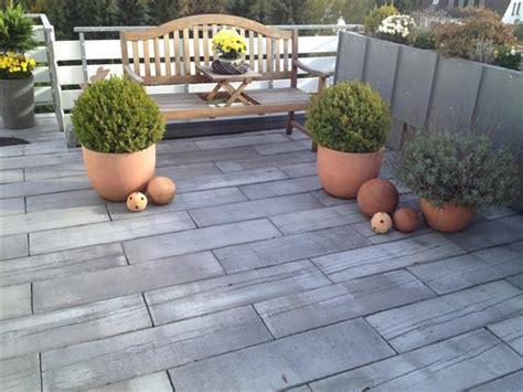 Terrasse Stein Holzoptik by Terrasse In Holzoptik Aus Mahora Dielenstein Der Firma