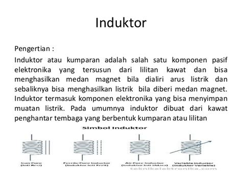 komponen pasif induktor komponen pasif induktor 28 images pengenalan komponen komponen elektronika corelita