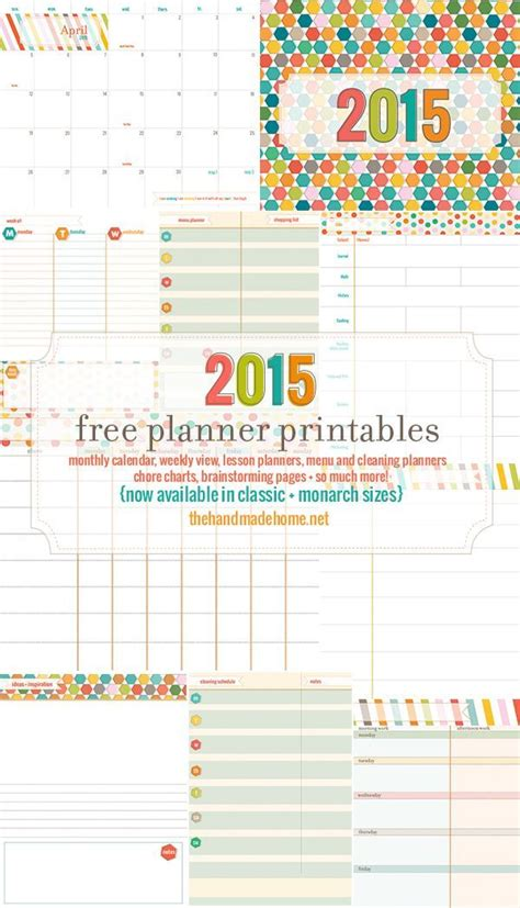 free printable goal planner 2015 2015 free printable planner craft ideas pinterest