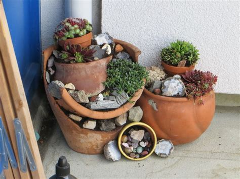 Rock Garden With Potted Plants Flower Pot Rock Garden All