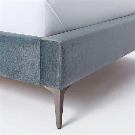 velvet upholstered bed deco upholstered bed luster velvet west elm