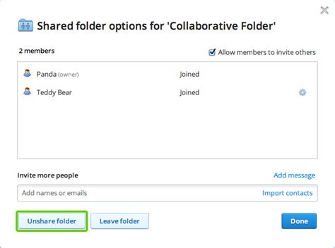 dropbox remove shared folder why isn t a shared dropbox folder deleted in other people