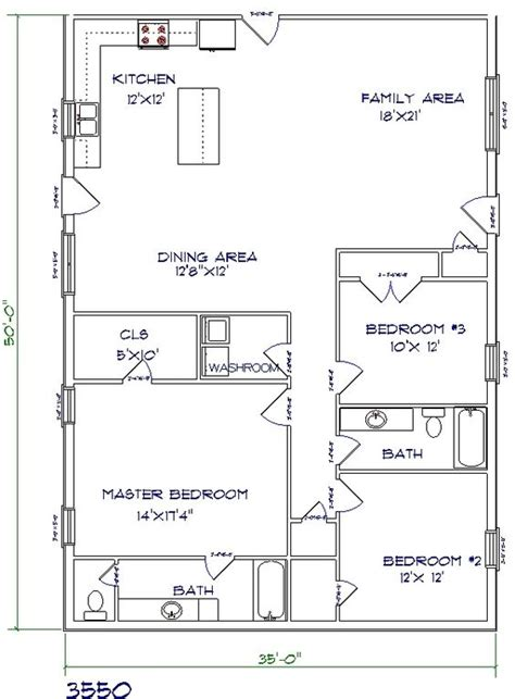 This Is My Favorite One Not Too Big Not Too Small And A Pole Barn Home Floor Plans With Loft