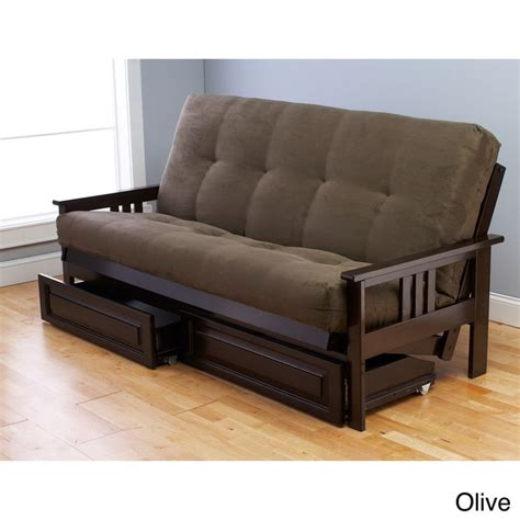 futons with storage beli mont espresso wood storage futon with mattress