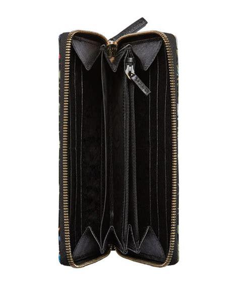 Print Zip Wallet gucci floral print zip around wallet black