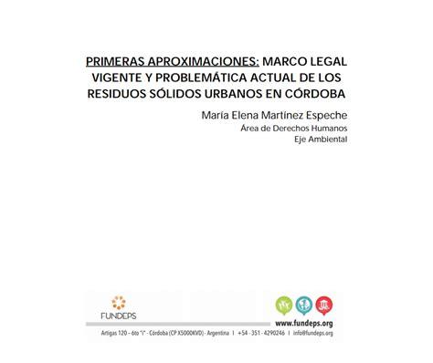 primeras aproximaciones marco legal vigente