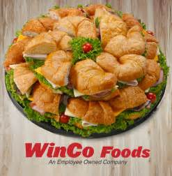Winco deli catering prices croissant sandwich tray