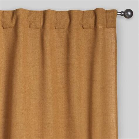 Concealed Tab Curtains Gold Concealed Tab Top Curtains Set Of 2 World Market