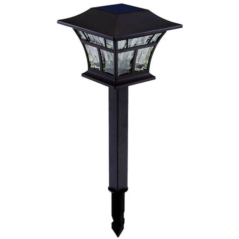 Solar Led Landscape Lights Hton Bay Solar Mediterranean Bronze Outdoor Integrated Led Landscape Path Light With Hammered