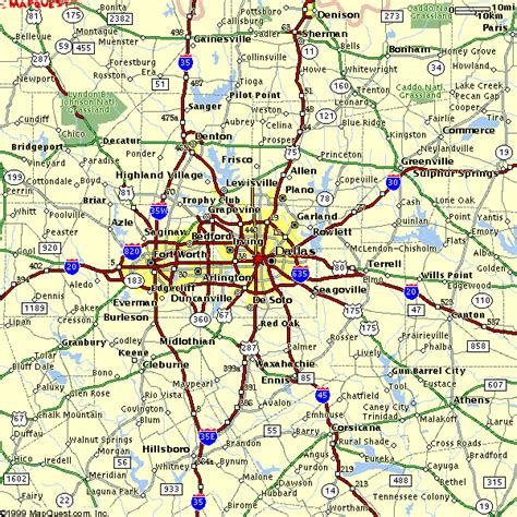 map of dallas texas and surrounding area map of dallas fort worth vacations travel map