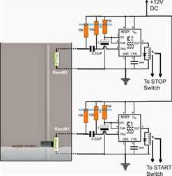 borewell motor starter controller circuit
