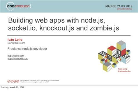 node js tutorial ppt building web apps with node js socket io knockout js and