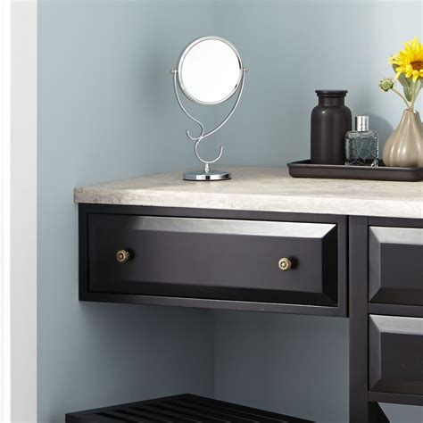 black makeup desk with drawers 24 quot glympton makeup black bathroom 24 glympton