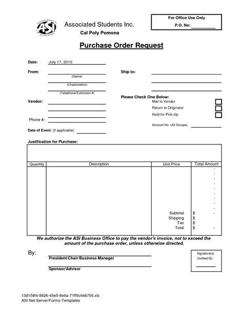 Request Letter For With Exle Purchase Order Letter Template