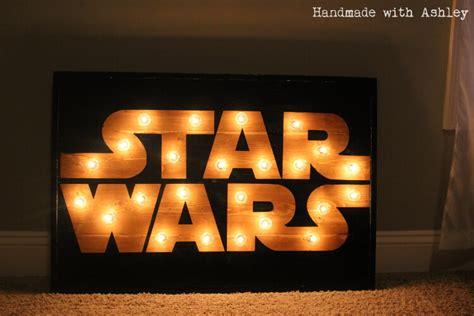 diy star wars marquee wall art tutorial handmade  ashley