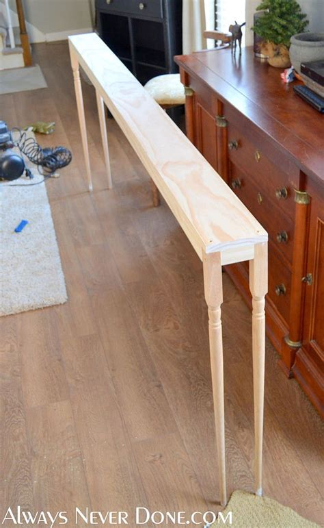 diy sofa table legs hometalk build it smith s clipboard on hometalk