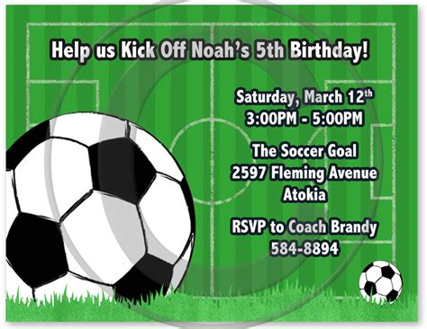 printable birthday cards soccer birthday invites awesome birthday soccer party