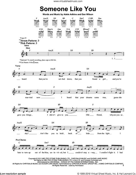 guitar tutorial adele someone like you adele someone like you sheet music for guitar solo chords