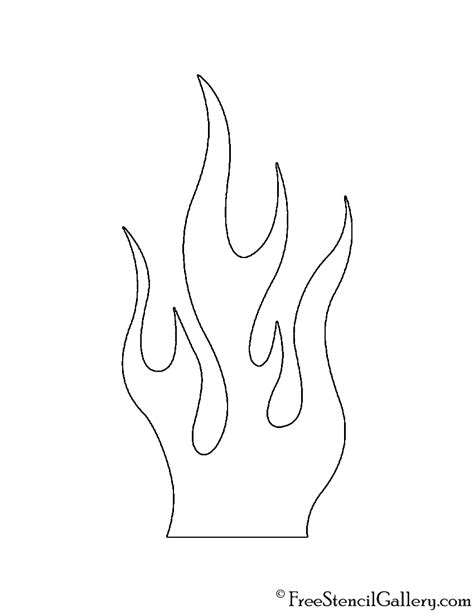 flames template flames 02 stencil free stencil gallery