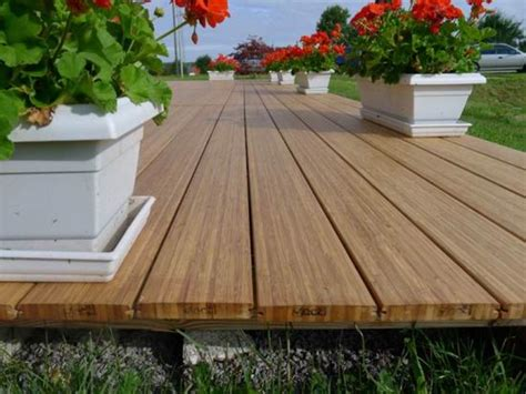 Vertical Bamboo Decking   Laminated Solid Bamboo Deck Board