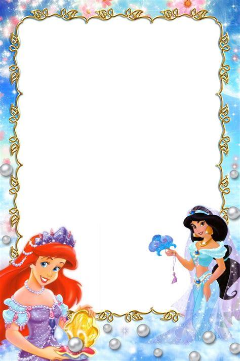 Frame Disney frame clipart disney princess pencil and in color frame