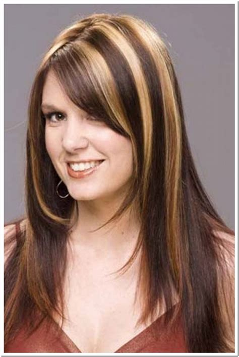 photos of colored hair with high lights of gray choosing highlights for brown hair inspiration