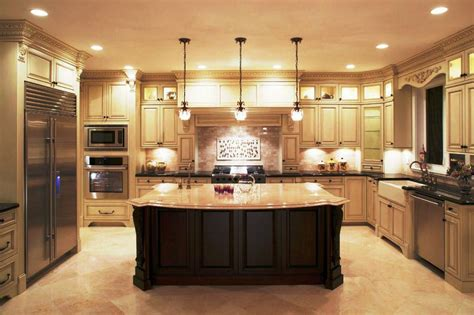 large kitchen island cherry cabinets islands designs