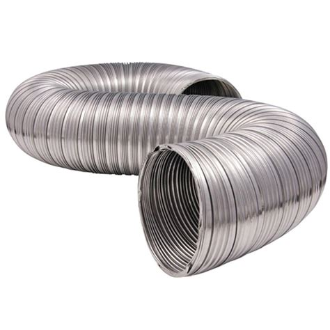 Chimney Duct Pipe - everbilt 4 in x 8 ft heavy duty semi rigid aluminum duct