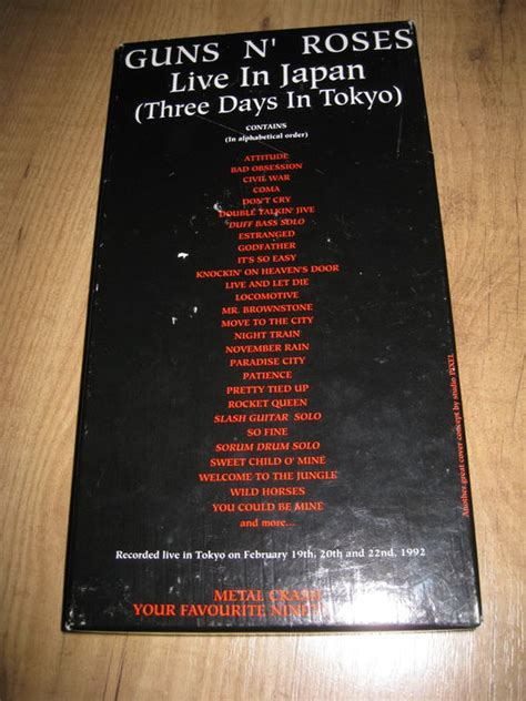 download mp3 guns n roses live in tokyo guns n roses live in japan three days in tokyo 3xcd