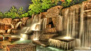 download artificial waterfall hdr wallpaper 1920x1080 wallpoper 437936