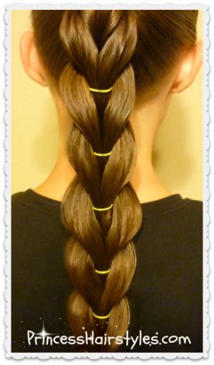 pull through braid easy hairstyles cute girls hairstyles reverse pull through braid ponytail hairstyle